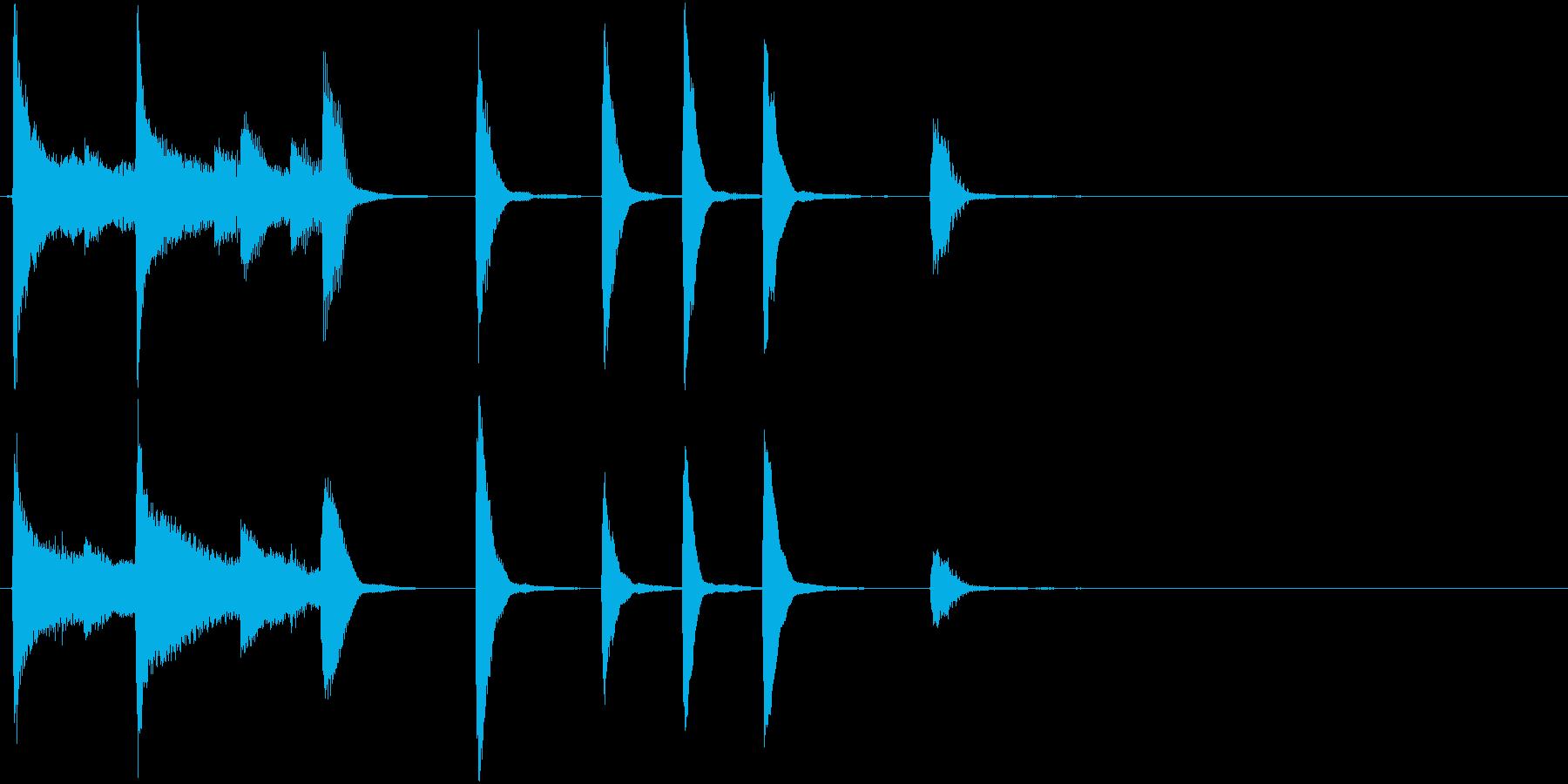 ご機嫌ブルースなピアノによるサウンドロゴの再生済みの波形