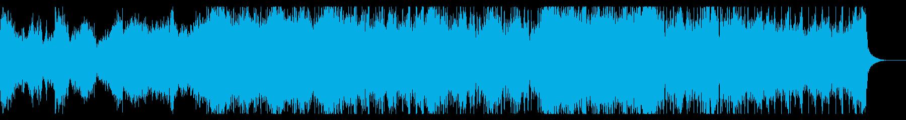 ホラーインダストリアルなテクスチャの再生済みの波形