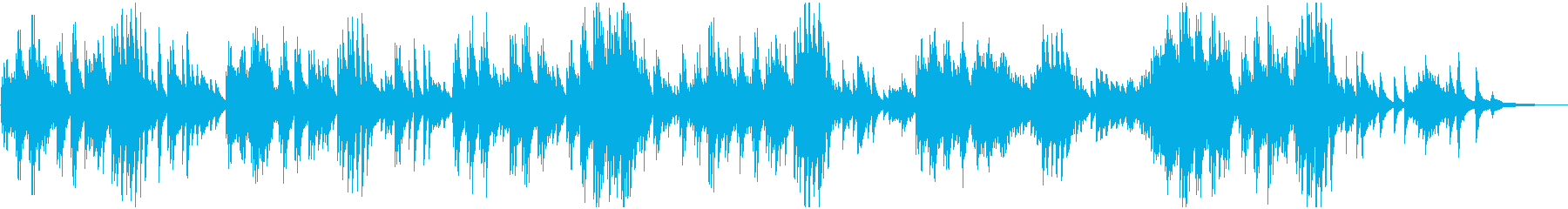 ややゆったりとしたテンポのピアノ曲の再生済みの波形