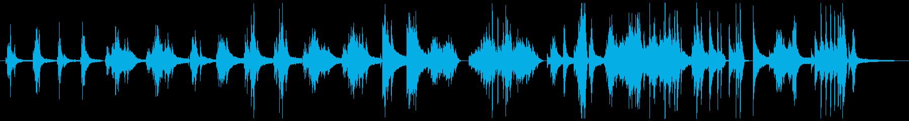 清涼感のある神秘的なピアノ曲の再生済みの波形