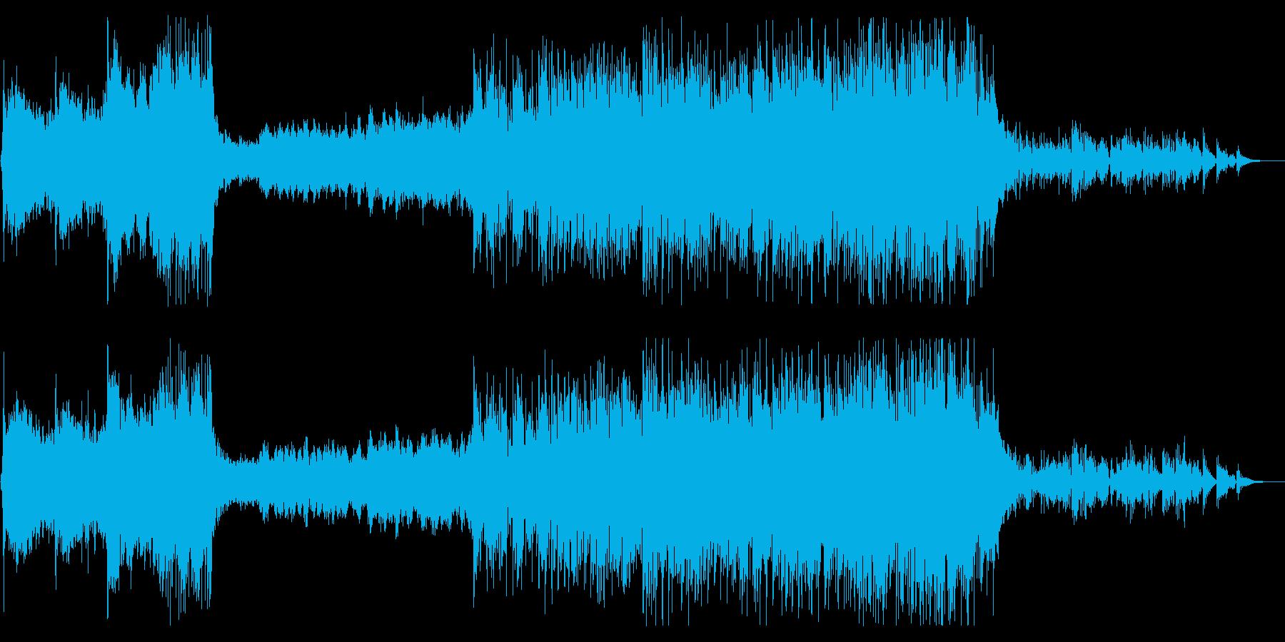 民族楽器使用の無国籍で幻想的な曲の再生済みの波形