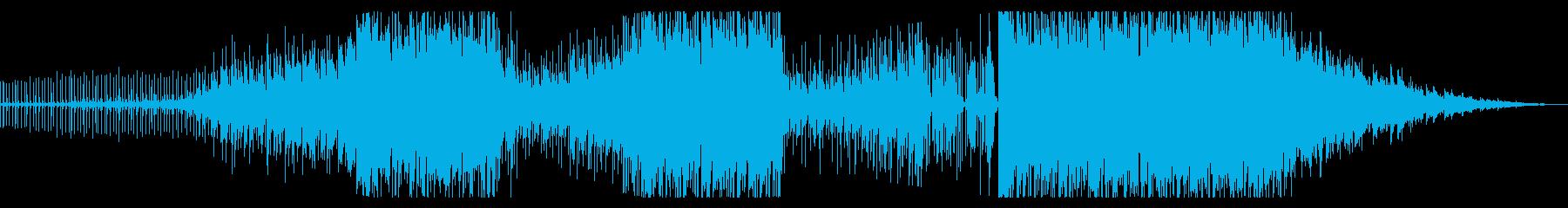 トロピカルで感傷的な癒しのBGM音楽の再生済みの波形