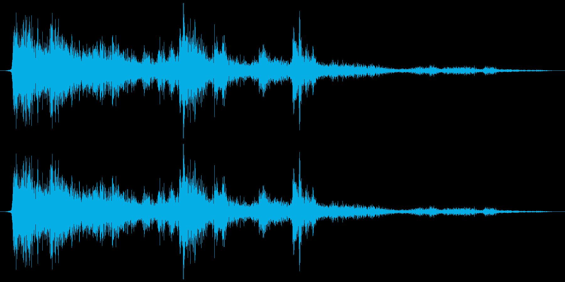 落雷(生音)の再生済みの波形