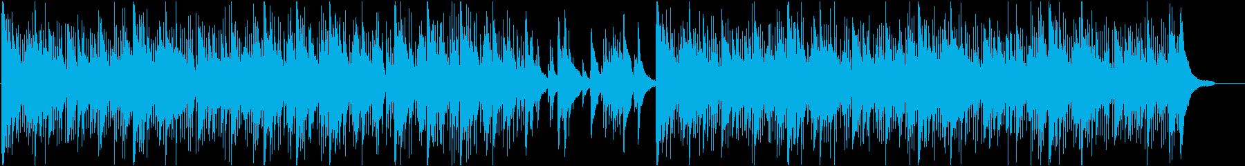 企業イメージPVなどにピアノ曲の再生済みの波形