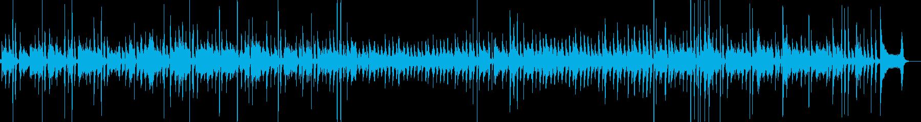 ブルースっぽいアコギサウンドの再生済みの波形