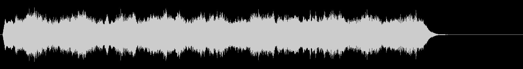 教会の礼拝に合うパイプオルガンのジングルの未再生の波形