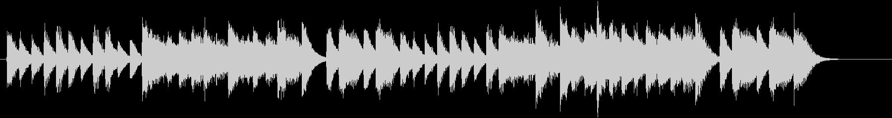 ワンパクなメロディ♪真冬のピアノジングルの未再生の波形