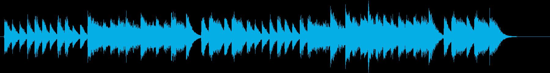 ワンパクなメロディ♪真冬のピアノジングルの再生済みの波形