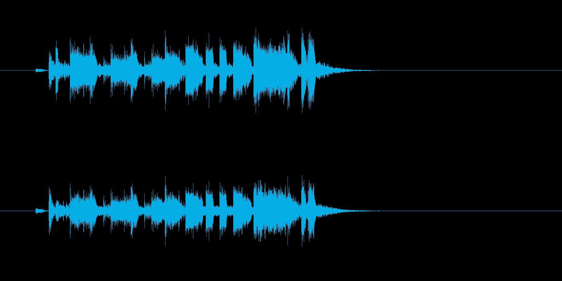 トランペット 明るい パーカッションの再生済みの波形