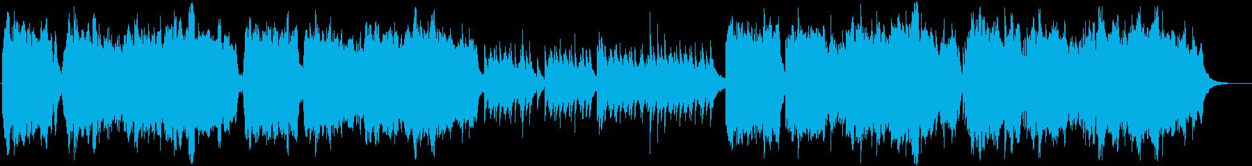 チェロとピアノのノスタルジックな曲の再生済みの波形