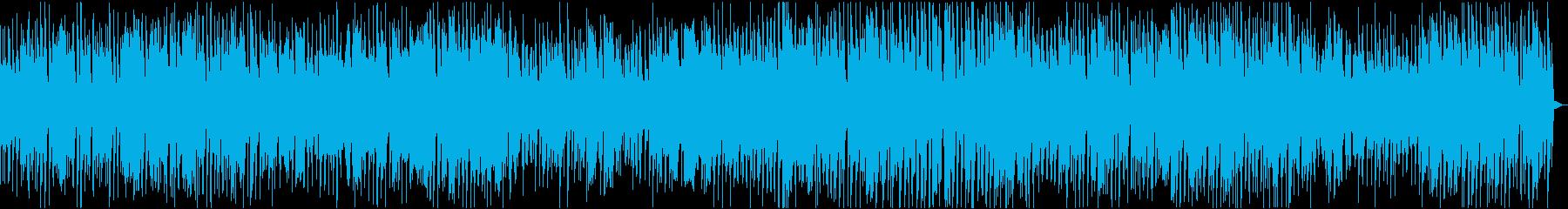 ゆったりとしたブルージーなジャズトラックの再生済みの波形