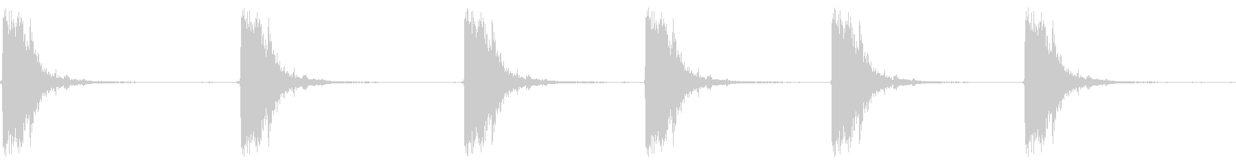 Shotgun Fire Loopの未再生の波形