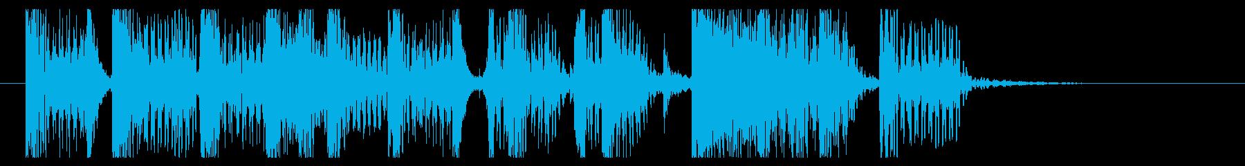 前傾姿勢なジングルの再生済みの波形