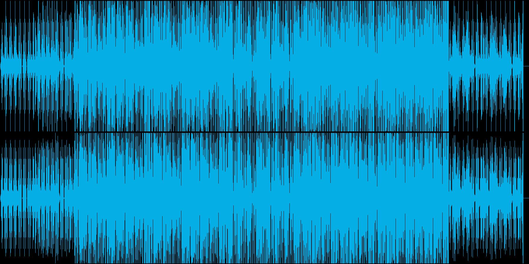 迷宮の探索をイメージしたカットアップの再生済みの波形