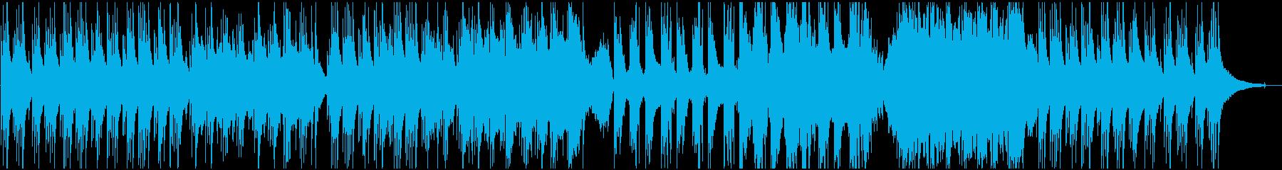 アコギとハープの穏やかなヒーリング曲の再生済みの波形