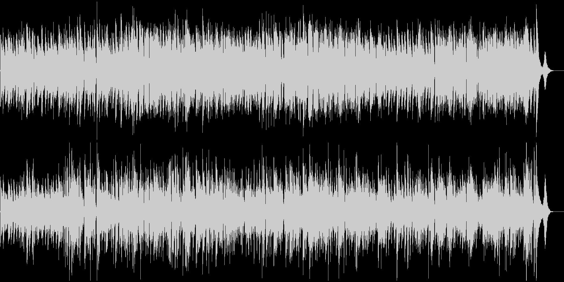 ジャズギターカルテットの未再生の波形