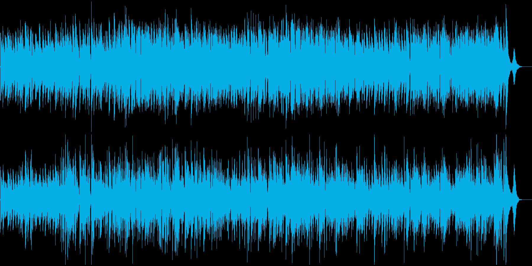 ジャズギターカルテットの再生済みの波形
