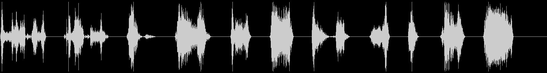 ゾンビのうなり声攻撃21-31の未再生の波形