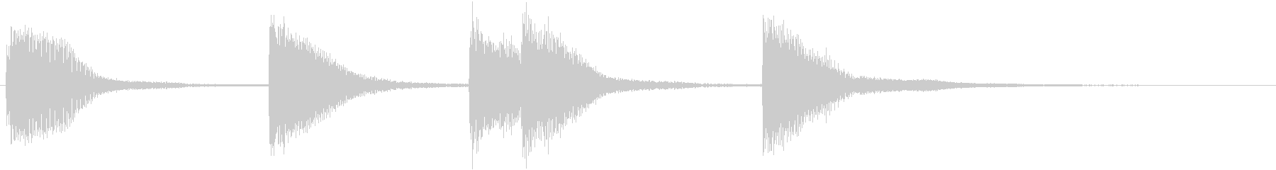 ピアノジングル 幼児向けアニメ系E-02の未再生の波形
