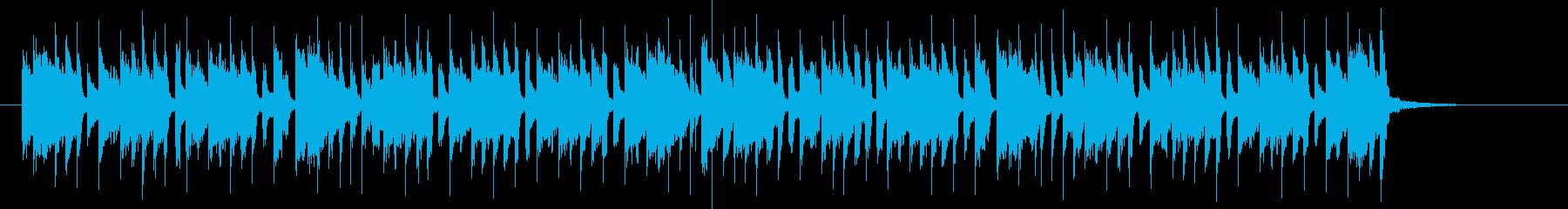 テンションアップな元気な音楽の再生済みの波形