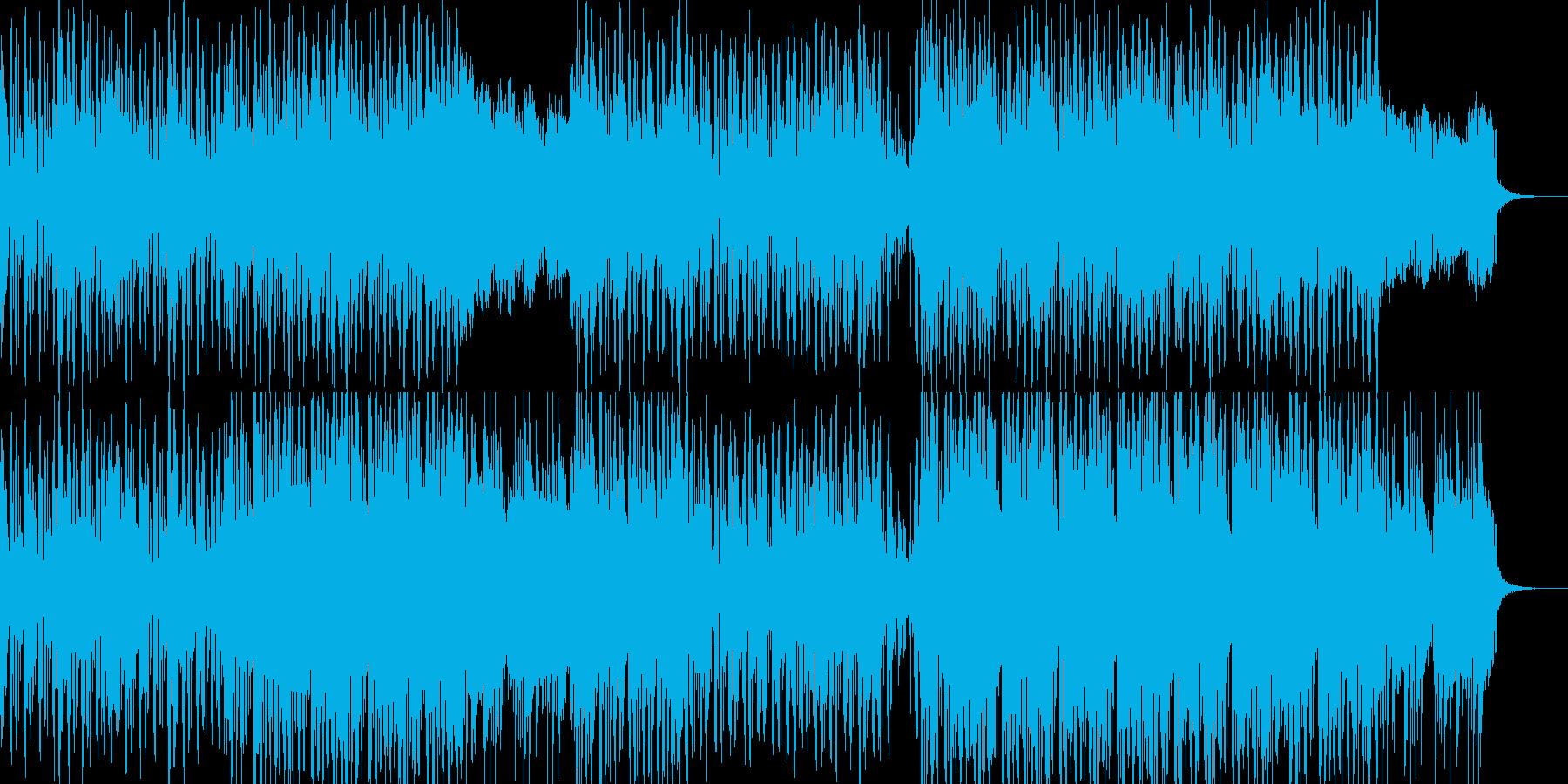 滑らかでスピード感あるアンビエントの再生済みの波形