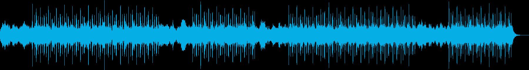 スローで暖かいチルアウトの再生済みの波形
