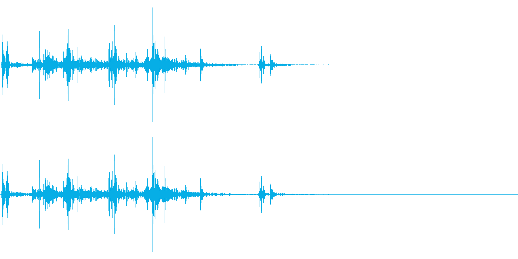 【生録音】ルービックキューブの操作音 4の再生済みの波形