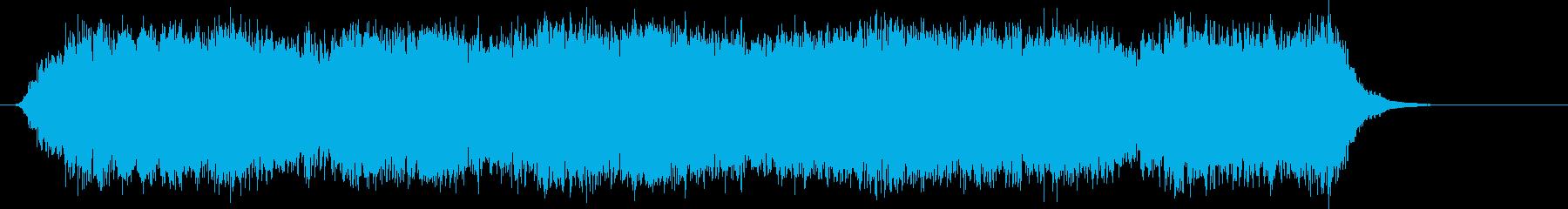 オーケストラのような構成の力強いポップスの再生済みの波形