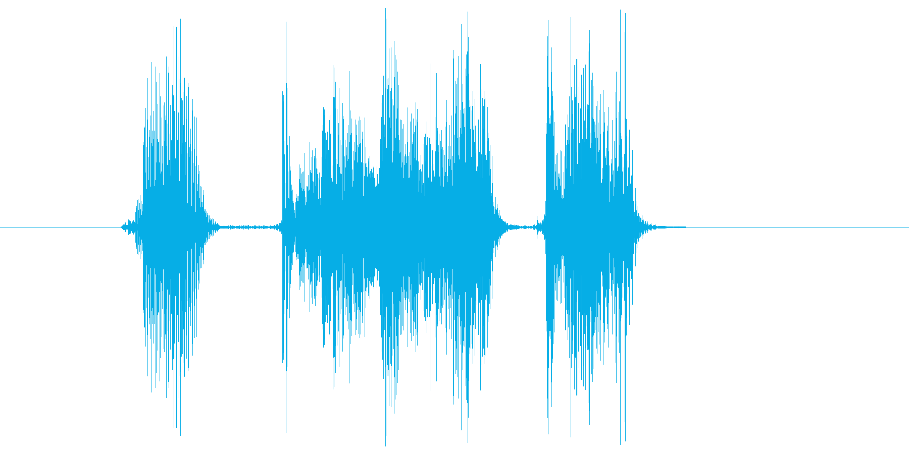 「バカスカ」の再生済みの波形