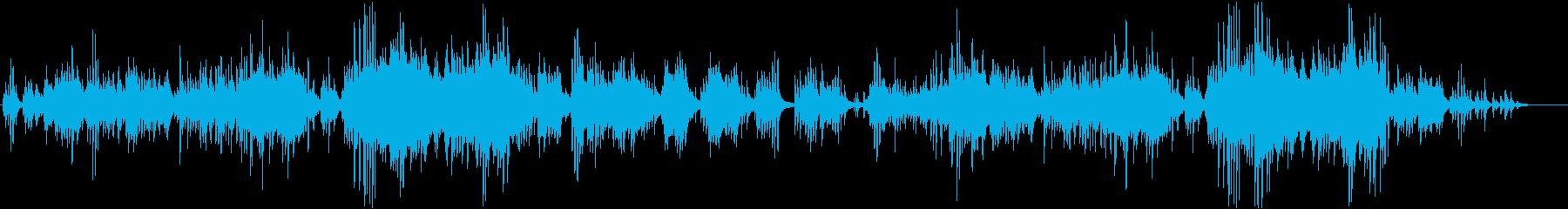 ピアノとストリングスのさわやかな曲の再生済みの波形