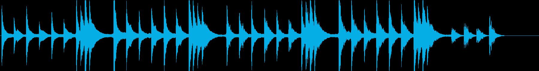 静寂なイメージピアノ曲(WAV版)の再生済みの波形