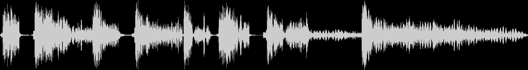 ヒットヒットインパクト11の未再生の波形