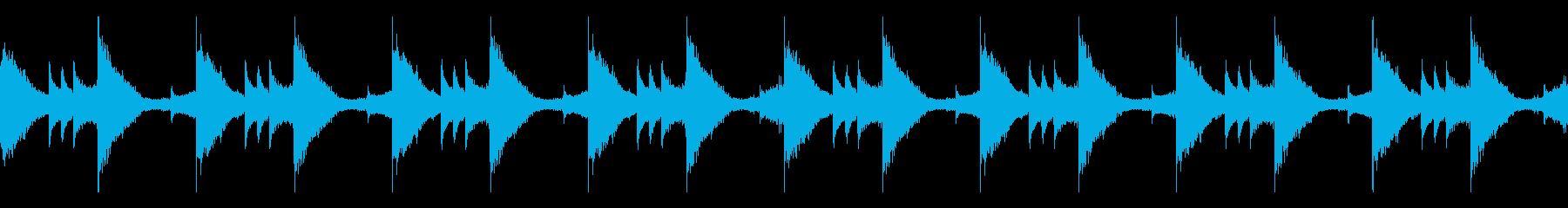 悲しい、不穏な雰囲気のループ曲の再生済みの波形