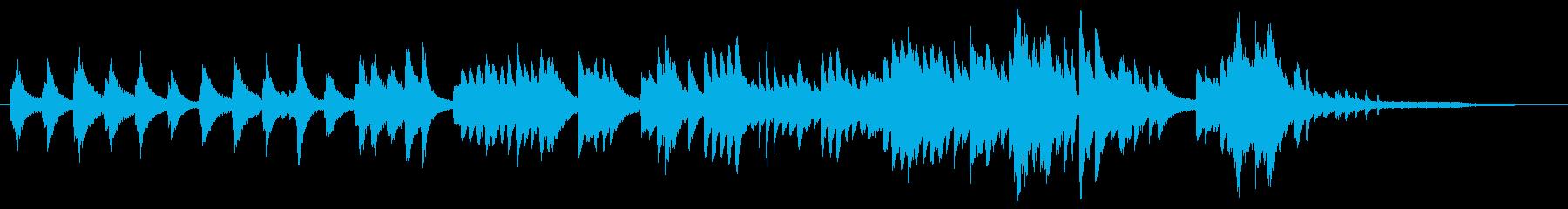 ピアノ、深夜、ラジオ放送時間調整、すき間の再生済みの波形