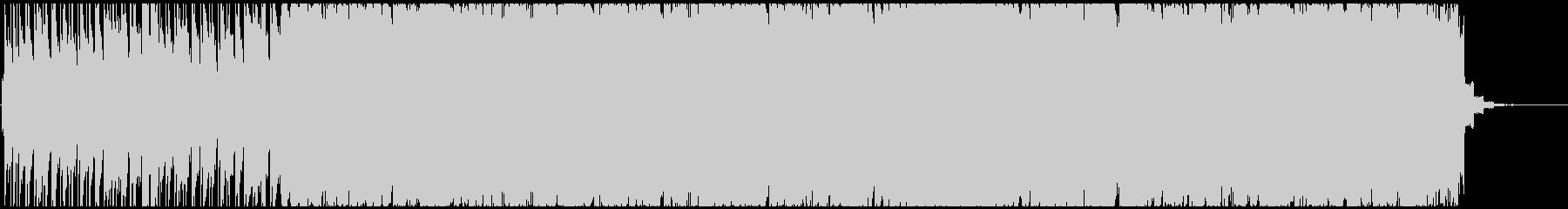 ロックンロール風スウィングロックインストの未再生の波形