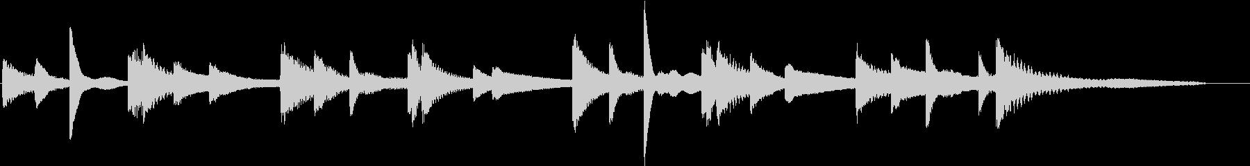 無調で無重力感を!脱力系ピアノジングルの未再生の波形