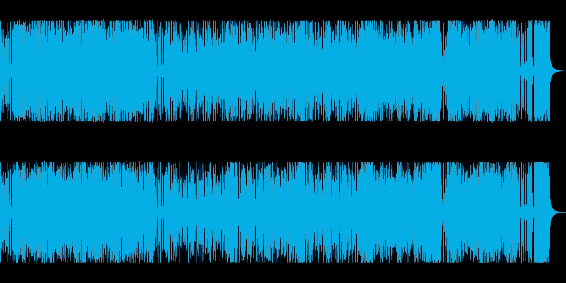 楽しく、軽快な曲調のファンクミュージックの再生済みの波形