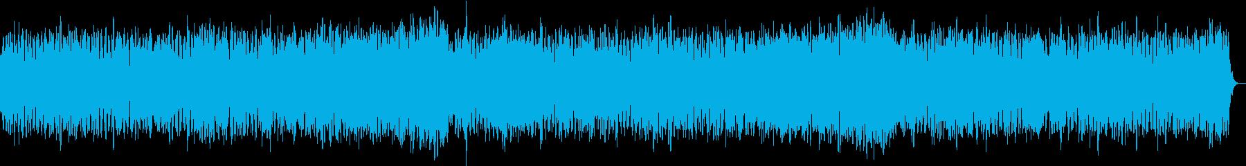 優しく明るいサウンドのヒーリング音楽の再生済みの波形