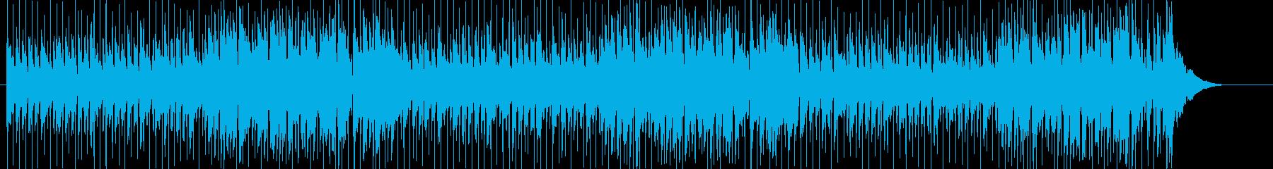 ゆったりとした南国風のボサノバの再生済みの波形