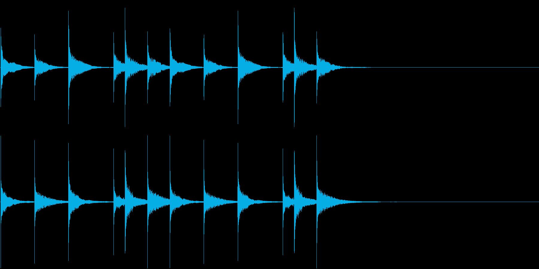 スピードMAXなiPhone的着信音の再生済みの波形