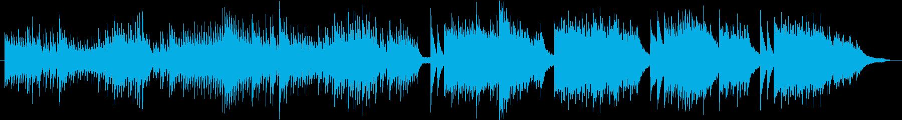 雨のイメージのピアノ03の再生済みの波形
