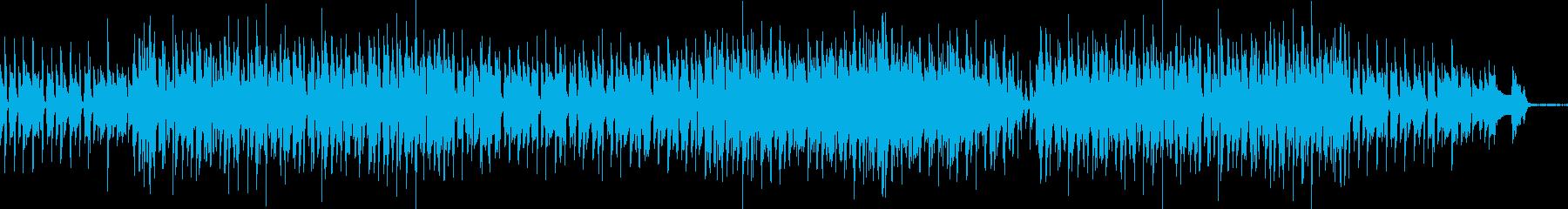 アップテンポなジャズ・探偵の尾行シーンの再生済みの波形