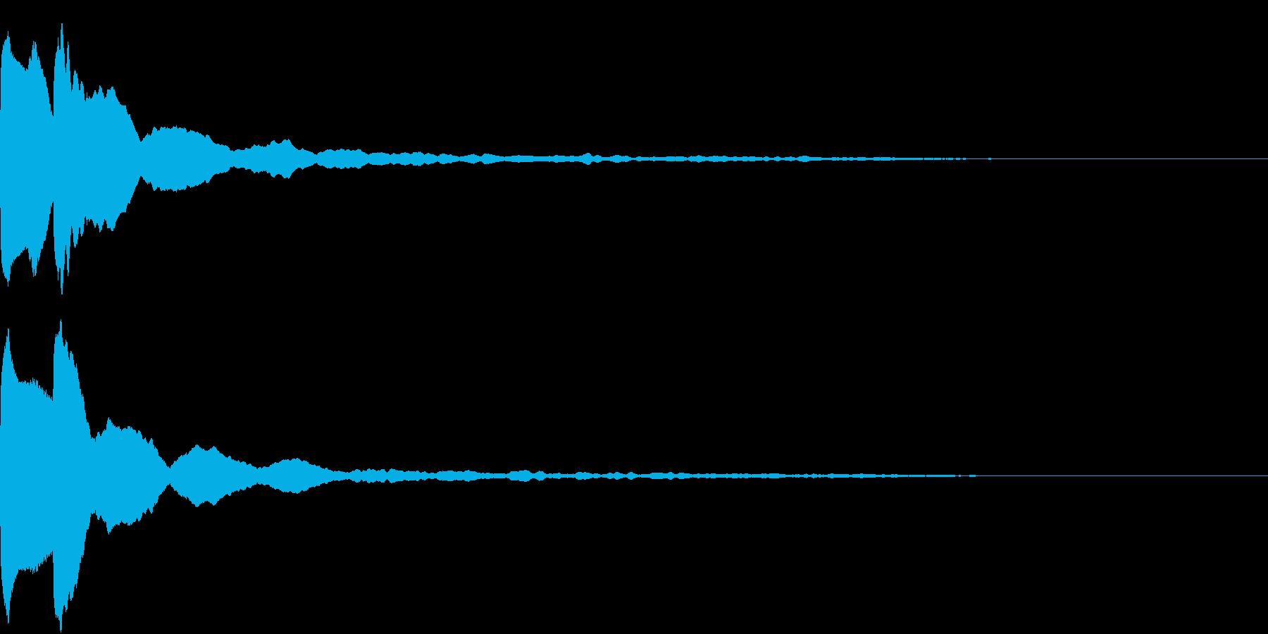 クリック キラリン 閃き 決定 12の再生済みの波形
