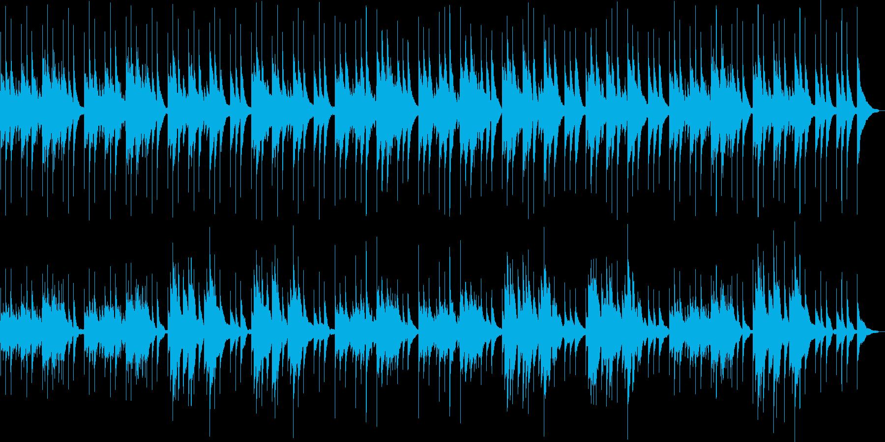 ややエキゾチックなヒーリングミュージックの再生済みの波形