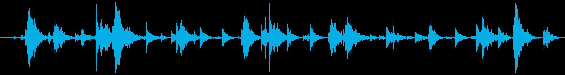 鐘の音ベルツリーの再生済みの波形