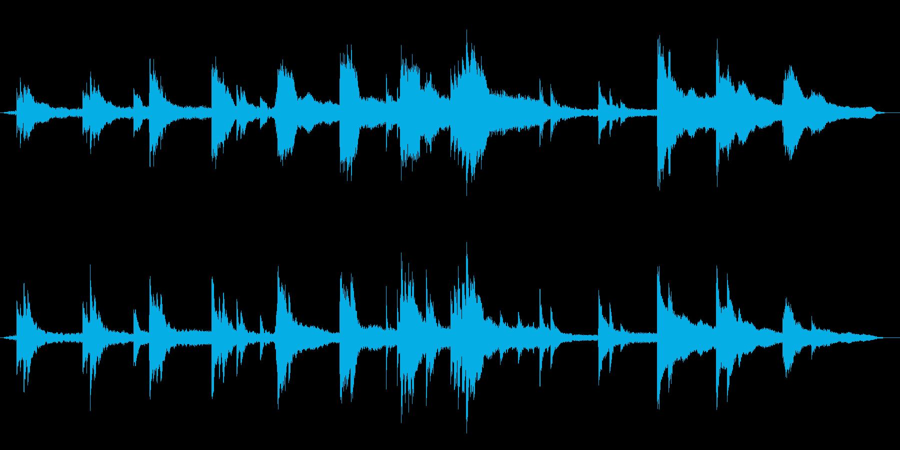 深い悲しみを表現したピアノBGMの再生済みの波形
