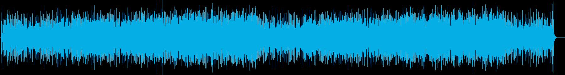 爽快ではじけるシンセサイザーサウンドの再生済みの波形