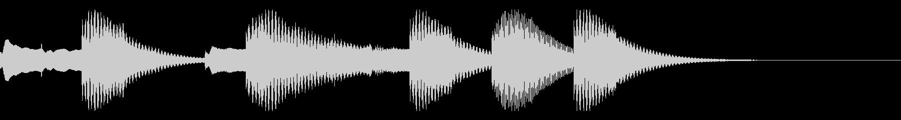 ほのぼのとしたかわいらしいジングルの未再生の波形