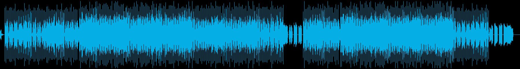 少しお洒落で近未来的な曲の再生済みの波形