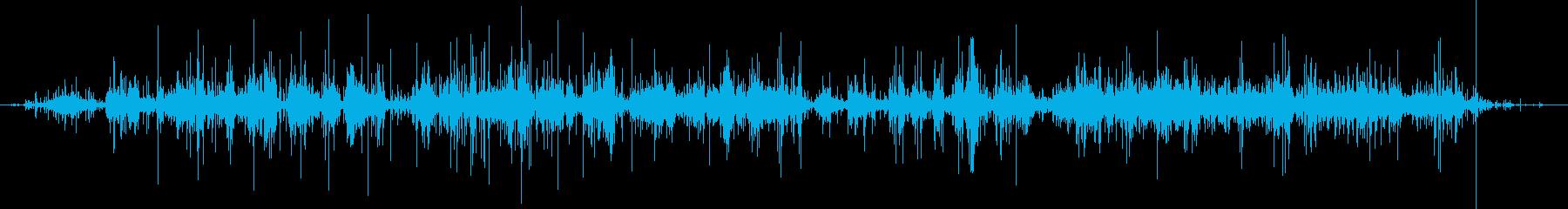 袋のガサガサ音03の再生済みの波形